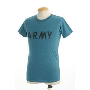 アメリカ軍ARMYオバーダイビンテージ風Tシャツ オーバーダイブルー M