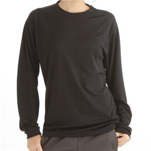肌ざわり最高 スポーツ吸汗速乾ロング袖Tシャツ 2枚SET ブラック 【XSサイズ】の写真1