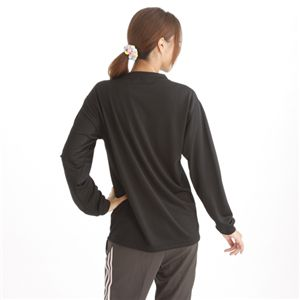 肌ざわり最高 スポーツ吸汗速乾ロング袖Tシャツ 2枚SET ブラック 【XSサイズ】の写真3