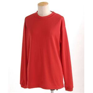 肌ざわり最高 スポーツ吸汗速乾ロング袖Tシャツ 2枚SET レッド 【XSサイズ】の写真1