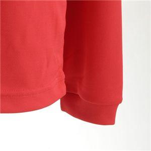 肌ざわり最高 スポーツ吸汗速乾ロング袖Tシャツ 2枚SET レッド 【XSサイズ】の写真3