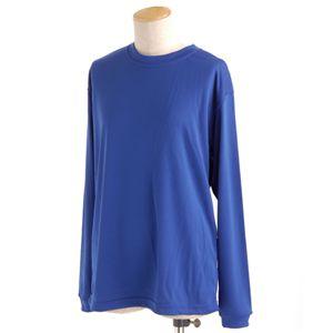 スポーツ吸汗速乾ロング袖 Tシャツ 2枚 SET コバルトブルー Lサイズ h01