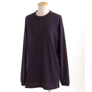 スポーツ吸汗速乾ロング袖 Tシャツ 2枚 SET ネイビー Mサイズ h01