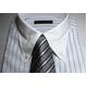 【09-10福袋 柄お任せ】某百貨店仕様ワイシャツ5点&シルクネクタイ5点セット Mサイズ