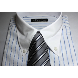 【09-10福袋 柄お任せ】某百貨店仕様ワイシャツ5点&シルクネクタイ5点セット LLサイズ - 拡大画像