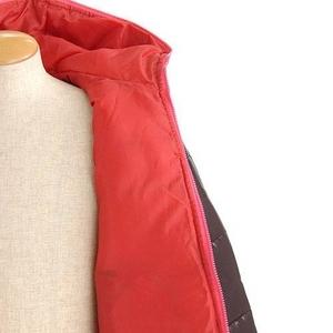 シレー加工切替デザイン中綿ブルゾン ブラック Mサイズ