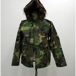 アメリカ軍ECWCS-1ジャケット復刻版 ファー付き MM-10411 ウッドランドカモ M (日本サイズL)