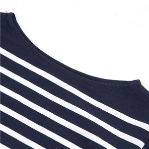 【訳あり・在庫処分】フランス軍ボーダーTシャツレプリカ JU038YN ネイビー×ホワイト 86サイズ h03