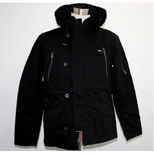 ミリタリーショートモッズジャケット ブラック LLサイズ