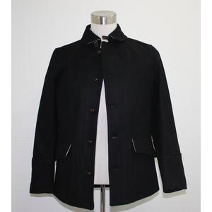 ミリタリーウールメルトンマリンジャケット ブラック Lサイズ