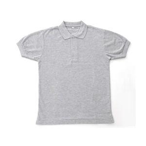 無地鹿の子ポロシャツ 杢 グレー 5Lの関連商品1