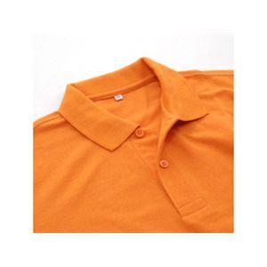 無地鹿の子ポロシャツ オレンジ S h02