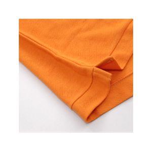 無地鹿の子ポロシャツ オレンジ S h03