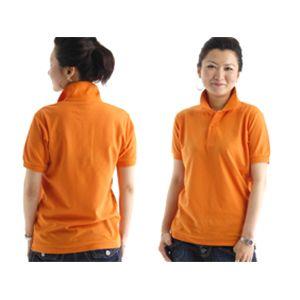 無地鹿の子ポロシャツ オレンジ S f04