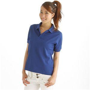 ドライメッシュアクティブ半袖ポロシャツ ロイヤルブルー L h02