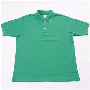 ドライメッシュアクティブ半袖ポロシャツ グリーン 3L