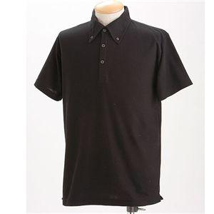 スーパークールビズ BDドライポロシャツ ブラック L h01