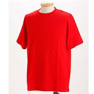 ドライメッシュTシャツ 2枚セット 白+レッド 3L