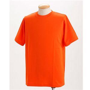 ドライメッシュTシャツ 2枚セット 白+オレンジ 3L