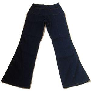 ブーツカット ストレッチデニム美脚パンツ ブルー 64