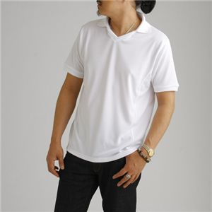 ドライメッシュ 襟付きTシャツ ホワイト XL
