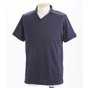 ドライメッシュ 襟付きTシャツ ネイビー XL
