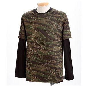 ドライクール ナイスカモフラ半袖Tシャツ&ロングTシャツ2枚 セット タイガー L - 拡大画像