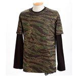 ドライクール ナイスカモフラ半袖Tシャツ&ロングTシャツ2枚 セット タイガー L