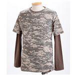 ドライクール ナイス カモフラ半袖 Tシャツ&ロング Tシャツ2枚 セット( 迷彩) ACU M