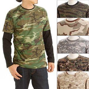 ドライクール ナイス カモ( 迷彩) フラ半袖 Tシャツ&ロング Tシャツ2枚 セット( 迷彩) ACU XL