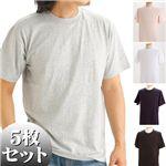 5枚セットTシャツ 5色セット L