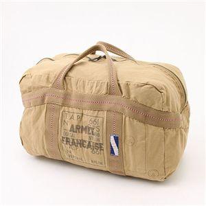 フランス空軍 パラシュートステッチバッグ カーキ