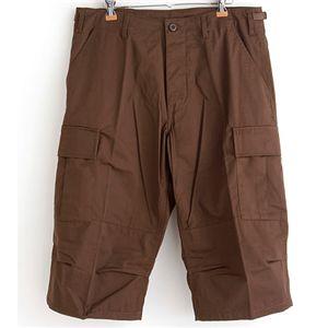 アメリカ軍 BDU クロップドカーゴパンツ /迷彩服パンツ 【 Sサイズ 】 ブラウン 【 レプリカ 】