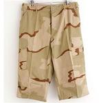 アメリカ軍 BDU クロップドカーゴパンツ /迷彩服パンツ 【 XLサイズ 】 リップストップ 3カラーデザート 【 レプリカ 】