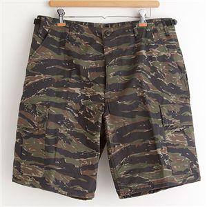 アメリカ軍 BDU カーゴショートパンツ/迷彩服パンツ【XLサイズ】 タイガー【レプリカ】