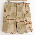 アメリカ軍 BDU カーゴショートパンツ/迷彩服パンツ【Lサイズ】 リップストップ 3カラーデザート【レプリカ】