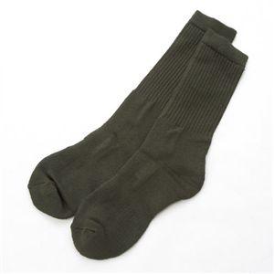 J.S.D.F採用 自衛隊 吸汗速乾クールマックスソックス(靴下)6511-6515 ノーマル オリーブ - 拡大画像