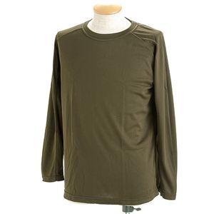 極寒地対策JSDF採用クールナイスロングTシャツ S オリーブ - 拡大画像