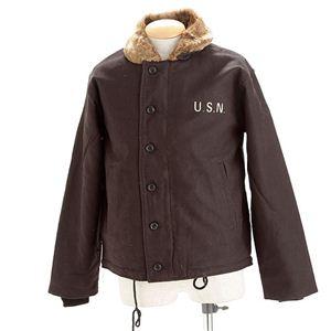 【メンズ】 USタイプN-1 裏ボアデッキジャケット ブラック 38(L) - 拡大画像