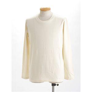 ユニセックス長袖 Tシャツ XL ナチュラル h01