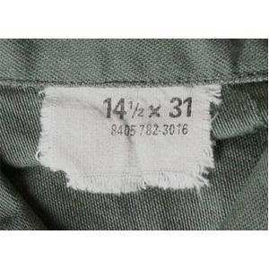 ファーティングシャツレプリカ OG-107オリーブ無地 14 1/2( S) f05