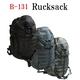 米軍 防水布使用3DAY中央ジッパーリュックサック ブラック - 縮小画像2