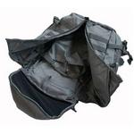 米軍防水布使用3DAY中央ジッパーリュックサック ブラック