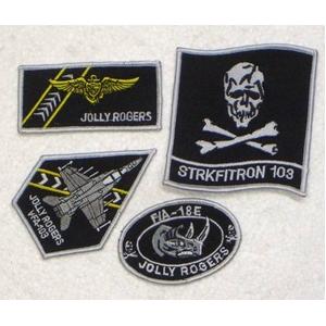 米軍 VFA-103 ワッペン刺繍レプリカ 4枚セット