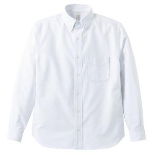 オックスフォードボタウンダウンワンウォッシュ長袖シャツ OXホワイト Lサイズ h01
