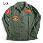 アメリカ軍 OG-107 ファティーグシャツ/長袖 【 13 1/2サイズ :レディースフリー 】 柄/MARINE 【 カスタム 】