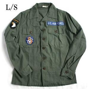 """米軍 OG-107 ファティーグシャツ カスタム AIR FORCE """"B"""" 長袖 14 1/2(S)"""