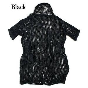 【訳あり・在庫処分】ノルウェー軍放出 ネットシャツ 後染め ブラック M相当【中古】