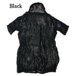 ノルウェー軍放出 ネットシャツ 後染め中古 ブラック L相当