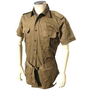 イタリア軍放出 サファリーシャツ 中古 オリーブ 《S〜M相当》 - 拡大画像